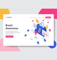 landing page template of brand awareness concept vector image vector image