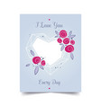 love valentine day card for decoration design vector image