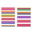 mexican traditional banners brushes and frame vector image vector image