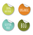 natural labels vector image vector image