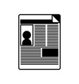 news paper news vector image vector image