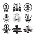 number one badges or banners award or business vector image