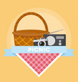 picnic and food design vector image vector image