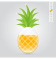 pineapple fruit juice vector image