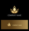 plant leaf organic beauty gold logo vector image vector image