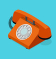 red old phone isometric view vector image vector image