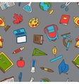 School seamless pattern with education hand drawn vector image