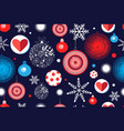 seamless christmas pattern with balloons vector image