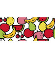 seamless pattern with colorful fruits berries vector image vector image