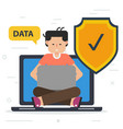 security of data using on computer vector image vector image