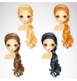 Set Of Beauty Event Hairstyle vector image vector image