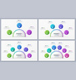 set of circle chart templates with 3 4 5 6 7 8 vector image vector image