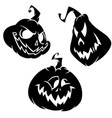 set of funny halloween jack o lanterns vector image vector image