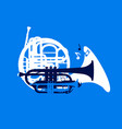 silhouette of musical wind instruments jazz vector image