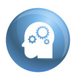 smart mind gear icon simple style vector image vector image
