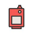 solid fuel boiler vector image vector image