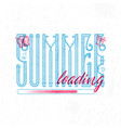 summer loading retro sign badge banner template vector image vector image
