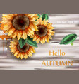 sunflowers watercolor card beautiful vector image vector image