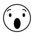 surprised round emoji vector image