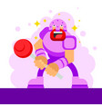 the candy warrior vector image vector image