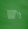 trash computer symbol vector image vector image