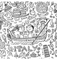 travel to italy seamless pattern for your design vector image vector image