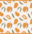 trendy seamless pattern with mango abstract vector image