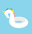 unicorn swimming ring vector image vector image