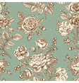 Vintage seamless pattern with roses vector image vector image