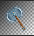 warrior two blades ax isolated game element vector image vector image