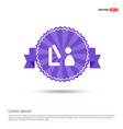watching screen icon - purple ribbon banner vector image