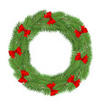 wreath christmas tree branches isolated on a vector image vector image