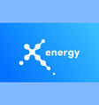 x energy technology sport icon vector image
