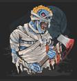 zombie mummy halloween artwork vector image vector image