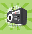 abstract radio icon with half tone background vector image