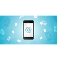 Mobile phone and emails background vector image
