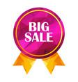 big sale triangle tag vector image