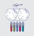 vape clouds vaporizer graphic vector image