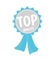Top quality silver and blue ribbon simple flat vector image