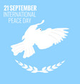 21 september international peace background vector image vector image