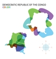 Abstract color map of Democratic Republic vector image vector image