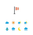 air icons flat style set with crescent drip vector image