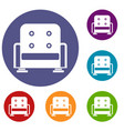 armchair icons set vector image vector image