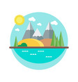 autumn landscape with mountains in the flat style vector image vector image