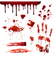 Blood Spatters Realistic Bloodstain Patterns Set vector image