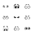 cartoon eyes icons set vector image vector image