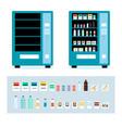 cartoon full and empty vending machine set vector image