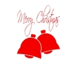 Christmas bells Merry Christmas lettering Flat vector image
