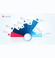circle chart design template for creating vector image