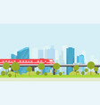 city subway vector image